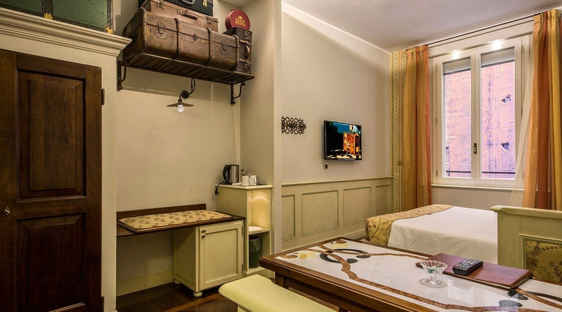 Double room  art hotel commercianti bologna